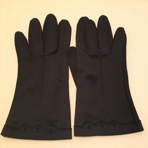 Vintage Navy Blue Dress Gloves
